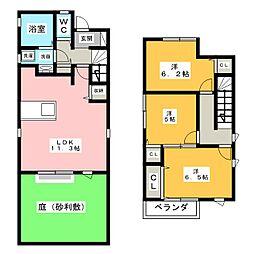 [一戸建] 愛知県名古屋市中村区八社1丁目 の賃貸【/】の間取り