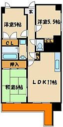 エンゼラート明石[11階]の間取り