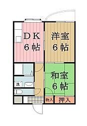 シャトー東武草加[3階]の間取り