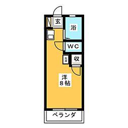 リバーサイド藤ヶ丘[1階]の間取り