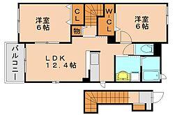 リーブルマロンA[2階]の間取り