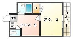 Mプラザ西三荘駅前[3階]の間取り