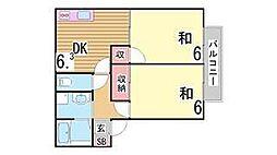 セラ西舞子II[2階]の間取り