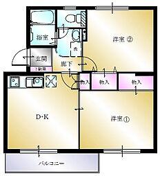 多賀台ヒルズマンションA[303号室]の間取り