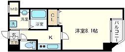 レジディア江戸堀[4階]の間取り