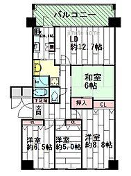ロイヤルアーク千里藤白台[3階]の間取り