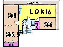 愛媛県松山市千舟町7丁目の賃貸マンションの間取り