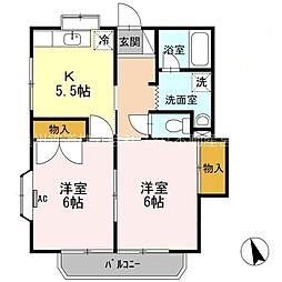メゾンK II[2階]の間取り