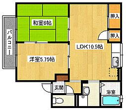 兵庫県神戸市垂水区清玄町6丁目の賃貸アパートの間取り