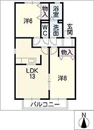 ウィスティリアA棟[2階]の間取り