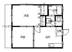 長崎県長崎市愛宕2丁目の賃貸マンションの間取り