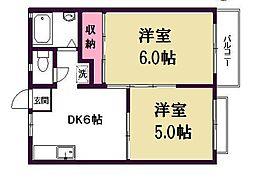 メゾンKAMATA[2階]の間取り