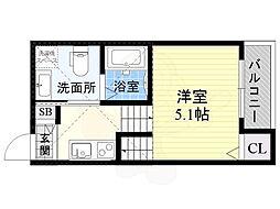 stage太子橋 1階1Kの間取り