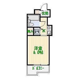 東京都葛飾区お花茶屋2丁目の賃貸マンションの間取り
