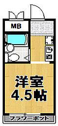 シティプラザ梅香[3階]の間取り