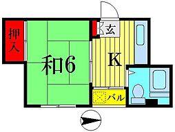 明治屋ハイツ[4階]の間取り
