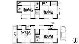 [一戸建] 兵庫県西宮市段上町3丁目 の賃貸【/】の間取り