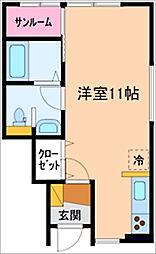 セシボン17[1階]の間取り