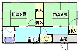北村荘[2F号室]の間取り