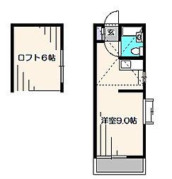 東京都西東京市住吉町4丁目の賃貸アパートの間取り