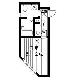東京都板橋区小茂根2丁目の賃貸アパートの間取り