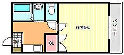 アクシリア駒川[2階]の間取り