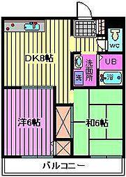 メゾン東宏[2階]の間取り