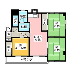 シャトーハイツ[1階]の間取り