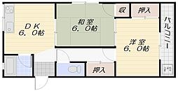 コーポ岡[4階]の間取り
