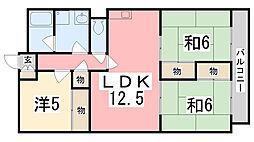 兵庫県姫路市東辻井4丁目の賃貸マンションの間取り