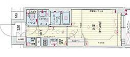 Osaka Metro谷町線 四天王寺前夕陽ヶ丘駅 徒歩5分の賃貸マンション 12階1Kの間取り