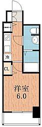 アクアプレイス天王寺Ⅱ[4階]の間取り