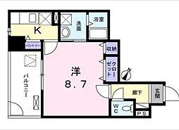 JR京浜東北・根岸線 鶴見駅 バス18分 上末吉局下車 徒歩1分の賃貸マンション 2階1Kの間取り