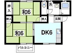 メゾン中菜畑[1階]の間取り