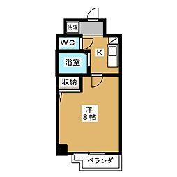 シエークル21[6階]の間取り