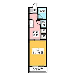 フラット1[2階]の間取り