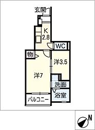 フルーリール[1階]の間取り