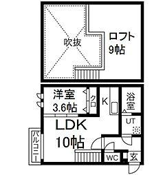 Ampio日比野弐番館[2階]の間取り