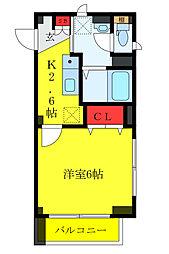 東京メトロ有楽町線 東池袋駅 徒歩7分の賃貸マンション 3階1Kの間取り