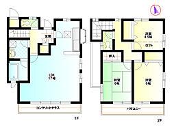 [テラスハウス] 神奈川県藤沢市遠藤 の賃貸【/】の間取り