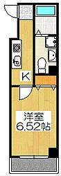 京都府京都市下京区大宮通五条下る堀之上町の賃貸マンションの間取り