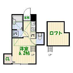 東京都葛飾区柴又1丁目の賃貸アパートの間取り