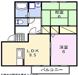 エスペランサ姫路[2階]の間取り