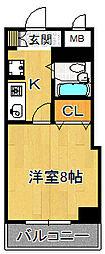 尼崎センタービル[4階]の間取り