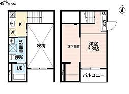 REFINED TASTE三吉(リファインドテイスト)[2階]の間取り