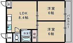 パシフィック九条駅前[10階]の間取り