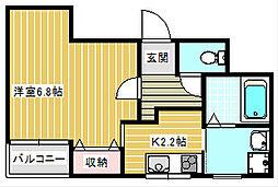 サンライフ加賀屋[3階]の間取り