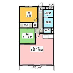 ハイネスマツウラ[2階]の間取り