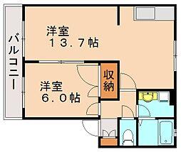 福岡県福岡市早良区梅林7丁目の賃貸アパートの間取り