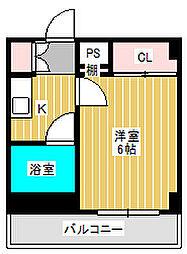 コーポ佐々木[2階]の間取り